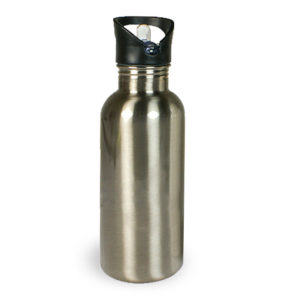 trinkflasche-bedrucken-silber